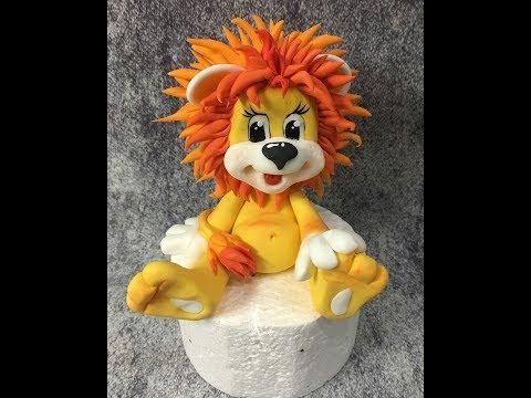 Львёнок из мастики ( Modeling Lion Tutorial )