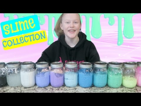 Slime Collection & Slime Mixing!
