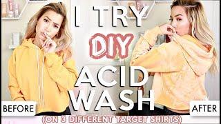 I TRIED IT | CHEAP DIY ACID WASH SHIRTS