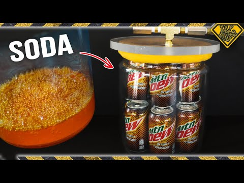 This is What Happens to Soda in a Vacuum Chamber