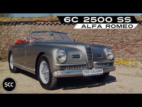 ALFA ROMEO 6C 2500 SS Convertible 1949 - Modest test drive - Engine sound | SCC TV
