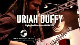 uriah duffy at namm 2016 playing the gittler 4 string fretted bass