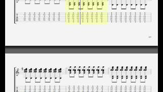 Bliss by Muse - GUITAR TAB - overdrive part