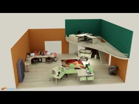 Interior design animation