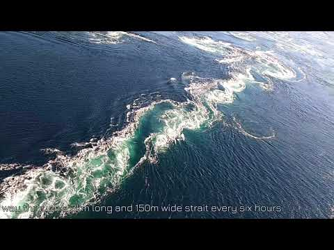 Saltstraumen tidal current. One of the strongest tidal currents in the world.