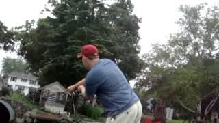 Sewer Pipe Bass Fishing 2015