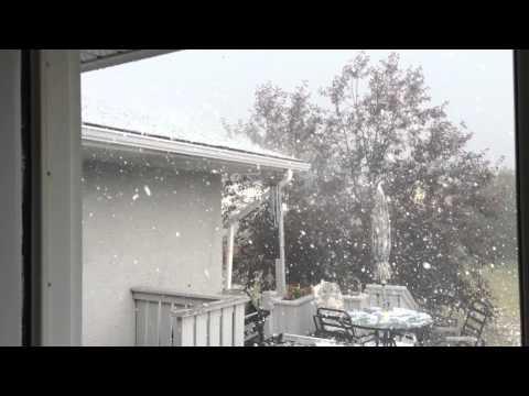 Insane Hail Storm - Airdrie, AB - August 7, 2014