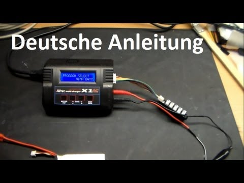 Hitec Multi Charger X1 AC Plus. Kleine Hilfe / Tutorial / Anleitung / Lipo richtig laden / Fazit