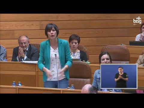 """Ana Pontón: """"O presidente da Xunta tanto di unha cousa como fai a contraria"""""""