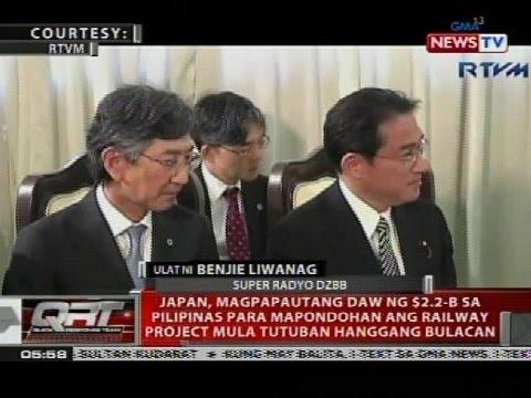QRT: Japan, magpapautang daw ng $2.2-B sa Pilipinas para mapondohan ang railway project