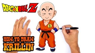 How to Draw Krillin (Dragon Ball Z)- Easy Art Lesson