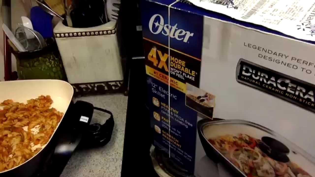 Non Stick Kitchen Appliances Quick Product Review Oster 12 Electric Skillet Duraceramic