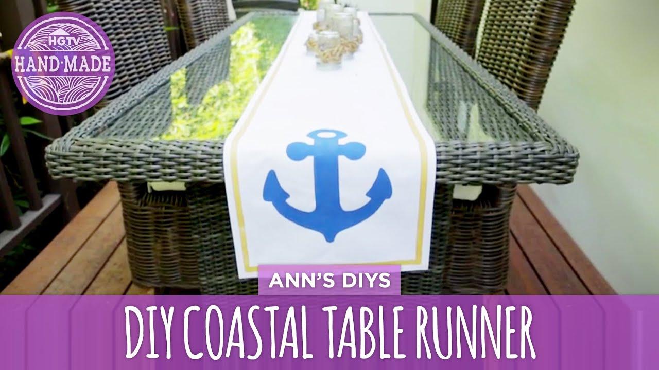 DIY Coastal Table Runner U0026 Mason Jar Candles   HGTV Handmade