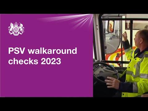 PSV driver's daily walkaround checks