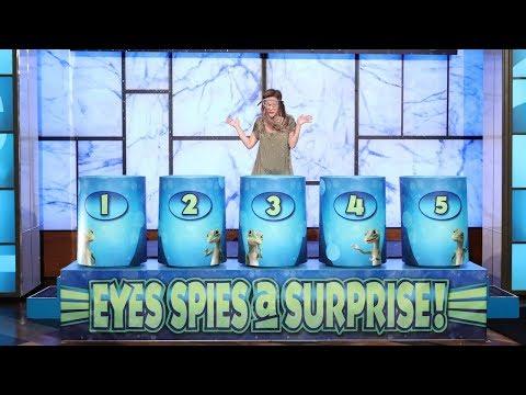 Ellen's Lucky Fan Makes a Splash with 'Eyes Spies a Surprise'