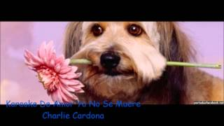 Karaoke de amor ya no se muere charlie cardona