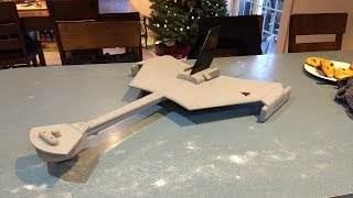 Rc rocket powered Klingon battle cruiser flight 1