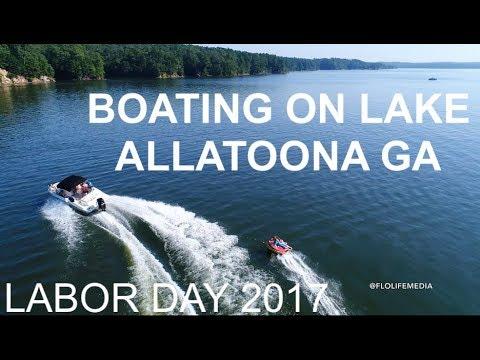 BOATING W/ THE DRONE ON LAKE ALLATOONA, GA