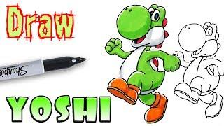 How to Draw Yoshi - Mario