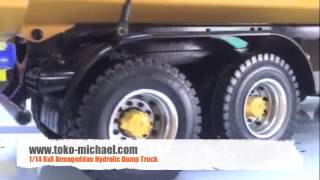 toko michael com 1:14 8x8 Armageddon Hydraulic Dump Truck