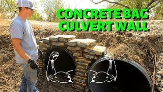 Concrete Bag Culvert Wall