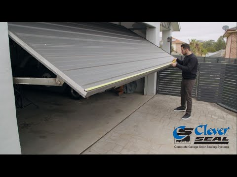 How To Install Cleverseal Flexi Seal On A Tilt Door With A Lah Top Seal Youtube