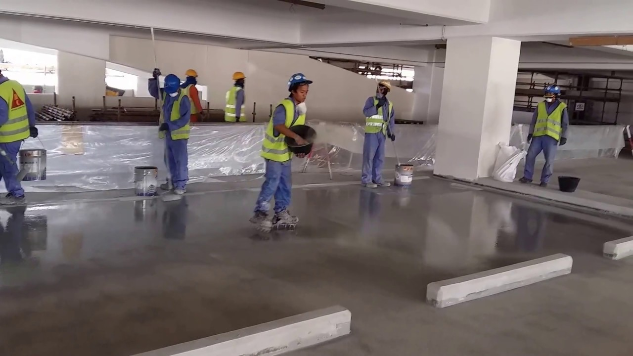 Traffic Coating Painting For Car Park Floor Youtube