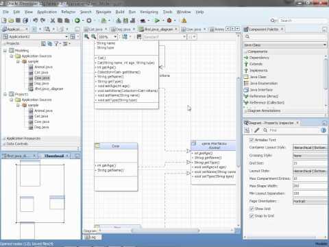 UML and Java Modeling in JDeveloper