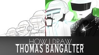 How I Draw | Thomas Bangalter - Happy 39th