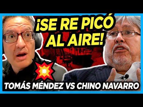 💥 EL CHINO NAVARRO LE CORTÓ A TOMÁS MÉNDEZ y el periodista no se la dejó pasar