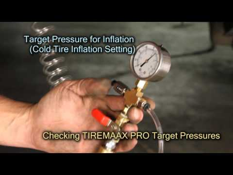 12. TIREMAAX® PRO - Checking the Target Pressure