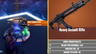 *NEW* Heavy Assault Rifle In Fortnite! Heavy Assault Rifle Gameplay! How To Use The Weapon Early!