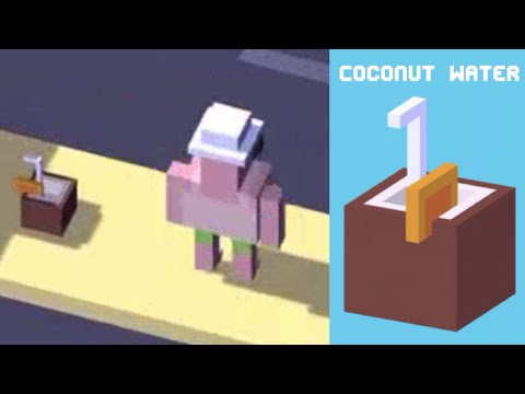 ★ CROSSY ROAD unlock COCONUT WATER ★ NEW Crossy Road Secret Characters Brazil Update | iOS, Android