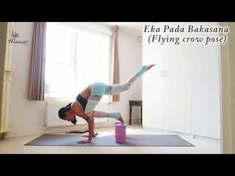 Eka Pada Bakasana I (Flying crow pose) Arm balance