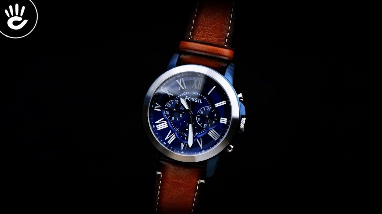 8d8345736 Review đồng hồ Fossil FS5151 mặt số xanh nổi bật nền cọc số la mã cách tân  - Chuyên Kênh Review Đồng Hồ - imclips.net