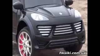 Детский электромобиль джип M 2735 EBR-2 Porsche Cayenne, Мягкие EVA колеса, черный - fiksiki.com.ua