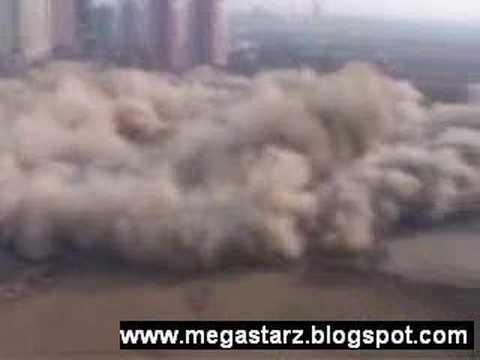 China stadium demolition