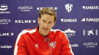 Rueda de prensa de Leo Franco. Previa del SD Huesca - Girona FC (28/09/2018)