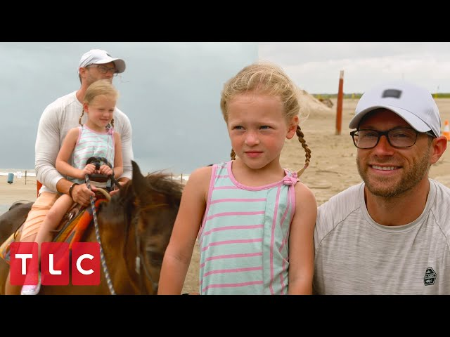 Parker Goes Horseback Riding on the Beach! | OutDaughtered
