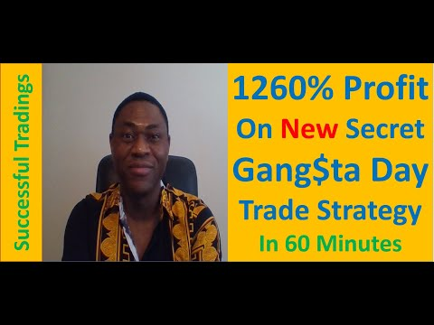 Advanced Gang$ter Option Day Trading Strategy Leads To 1260% Profits [In 60 Minutes]