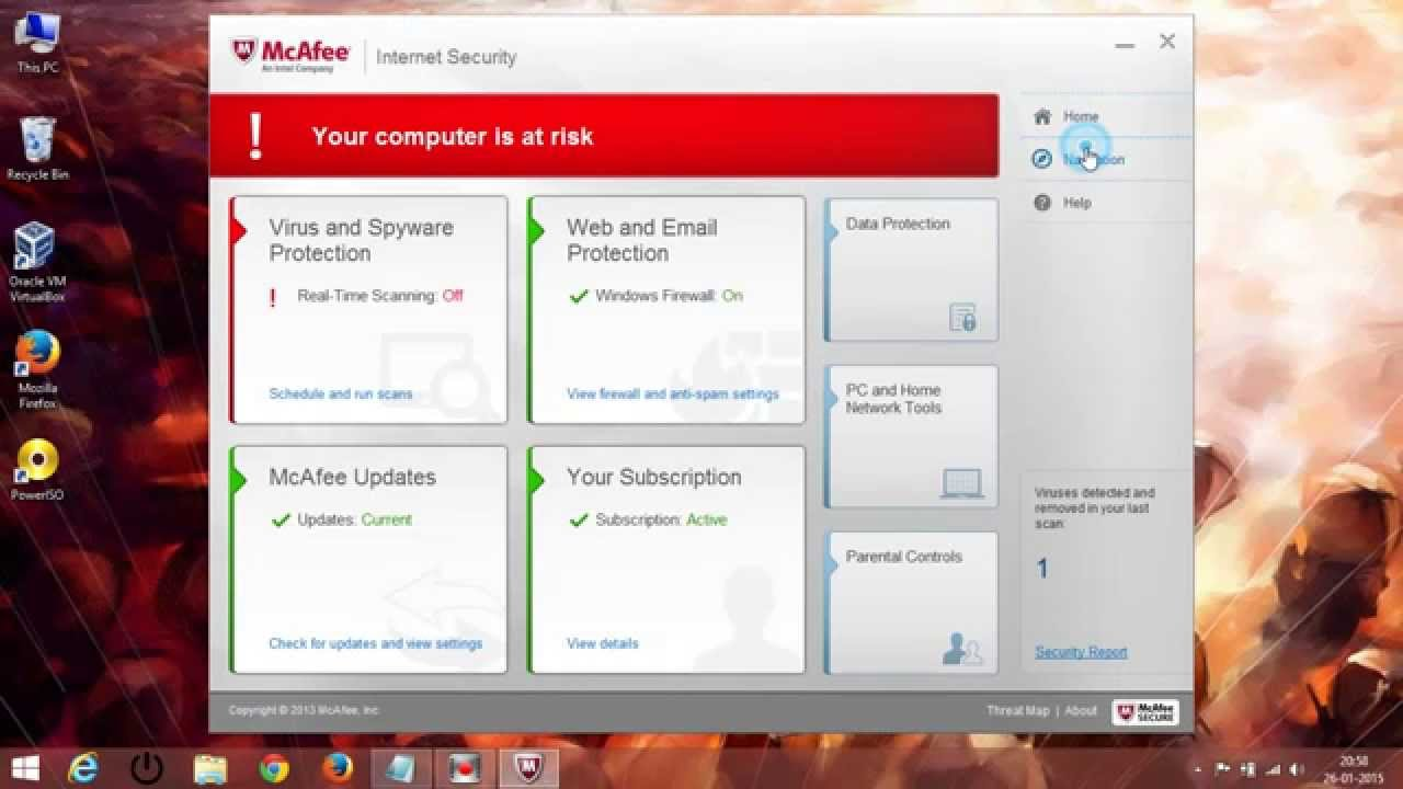 How To Disable & Enable Mcafee Antivirus 2015 | Doovi