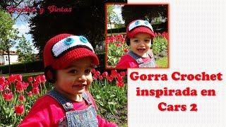 Repeat youtube video Gorro carro tejido a crochet para niño  - Gorra crochet inspirada en Cars 2