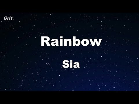Rainbow - Sia Karaoke 【No Guide Melody】 Instrumental