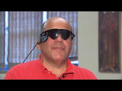 A blind man makes him see