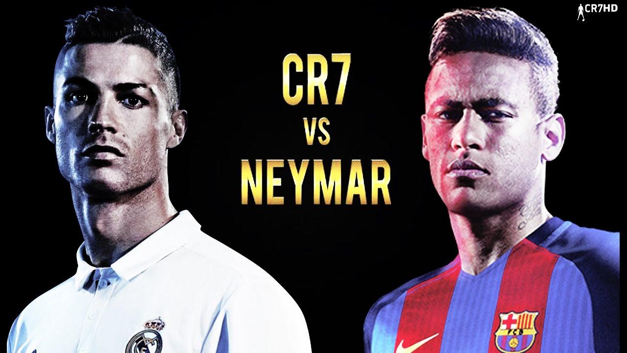 Cristiano Ronaldo vs Neymar Jr | Epic Battle 2016-2017 ...