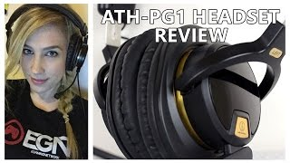 audio technica ath pg1 gaming headset unboxing review