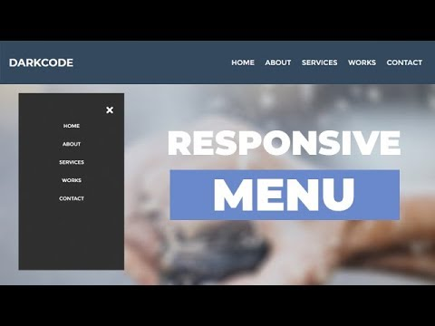 Responsive Menu Navigation Using Only HTML & CSS