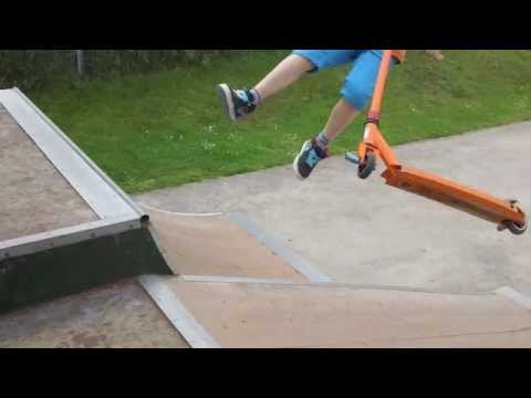 Haslingfield skate park scooter tricks