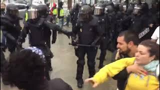Disturbios en Barcelona por el referéndum 1-O