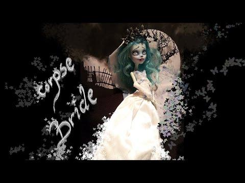 Corpse Bride -  Frankie Stein Monster High Doll -  Custom Repaint OOAK